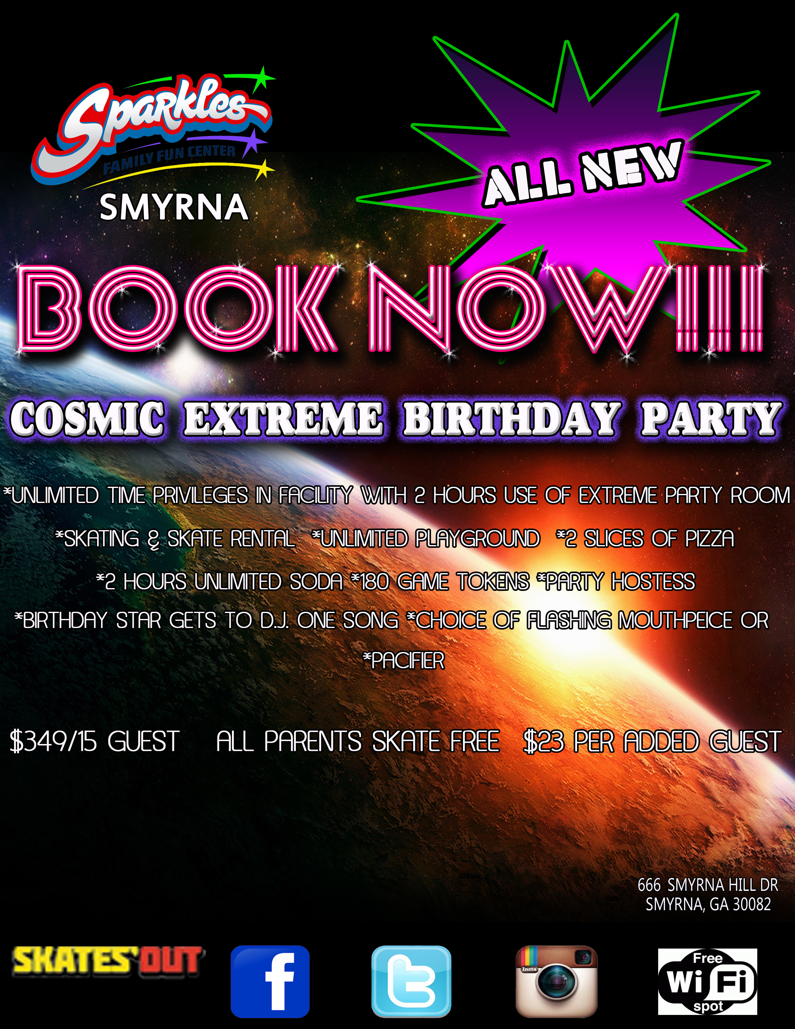 Cosmic Party Flyer