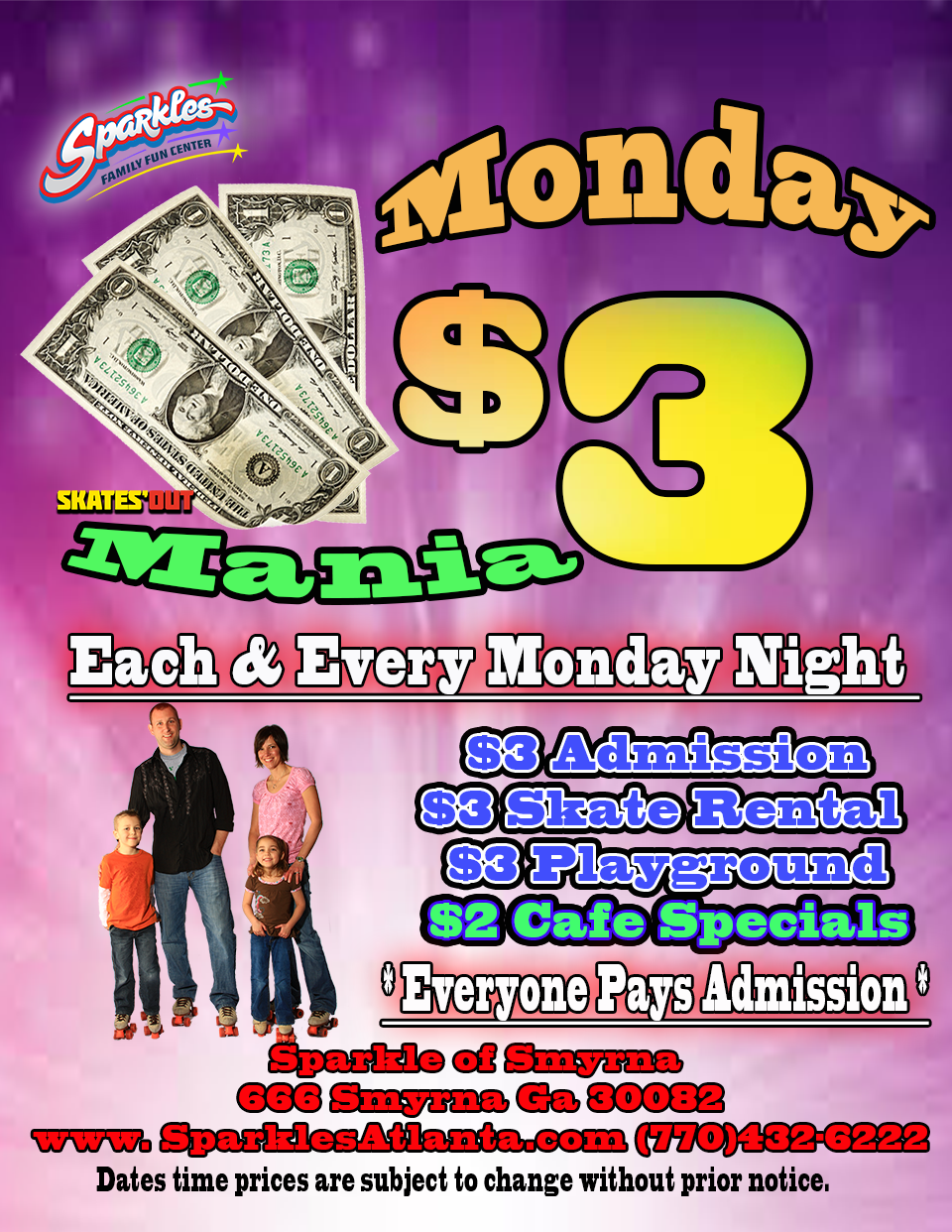 $3 Monday Mania