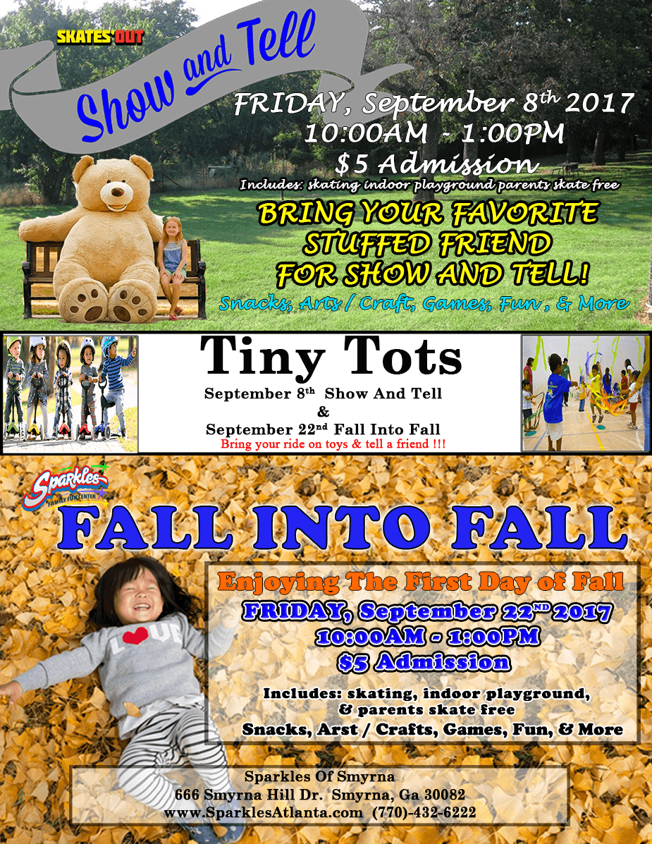 Sept. Tiny Tot's Sessions