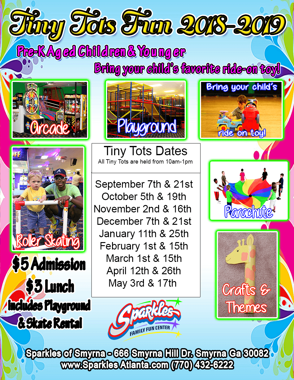 Tiny Tot's Sessions Dates