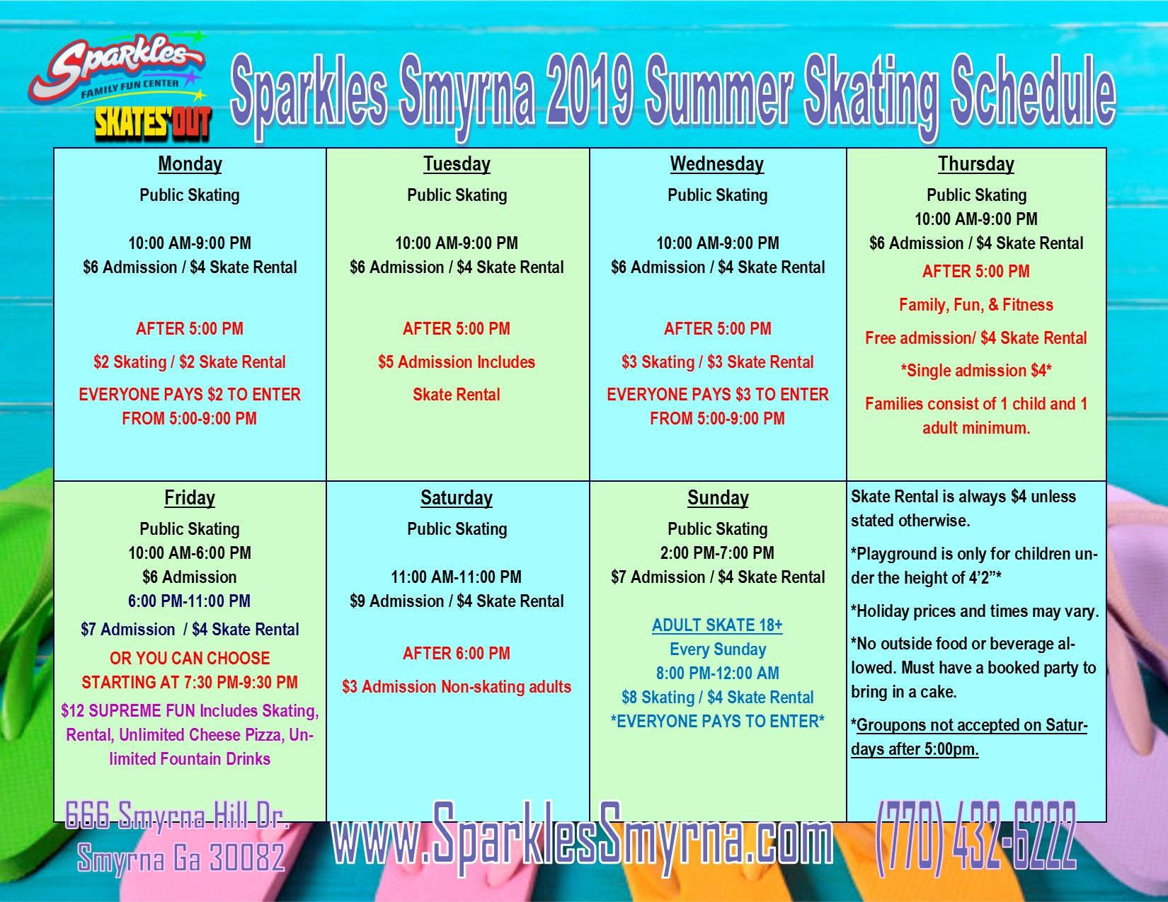 Summer Schedule 2019