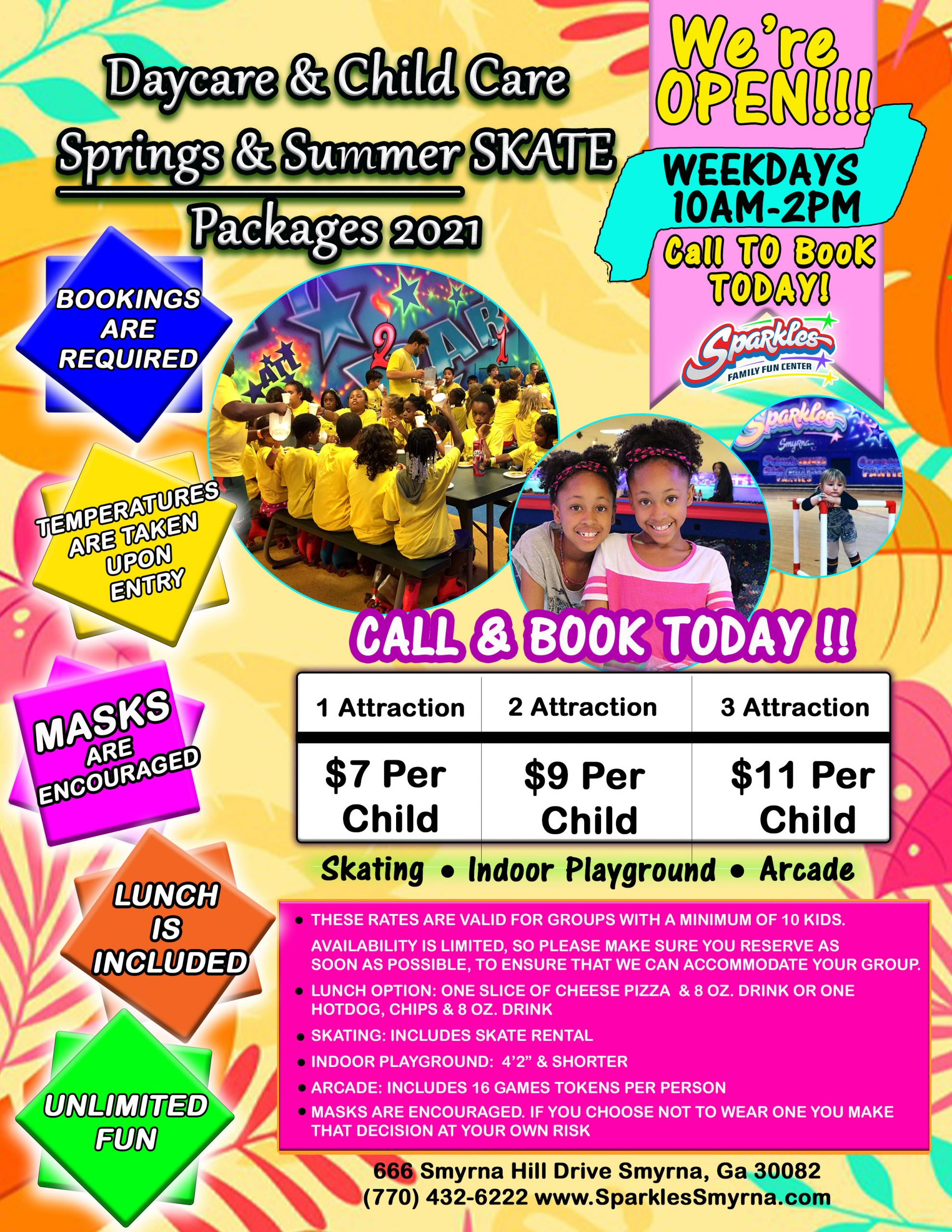 Daycare Summer Camp Packages
