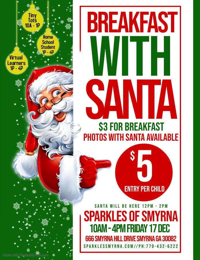 Tiny Tots Breakfast w/ Santa